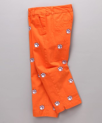 Orange Clemson Capri Pants - Women