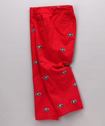Red Georgia Capri Pants - Women