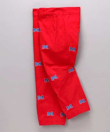 Red Ole Miss Capri Pants - Women