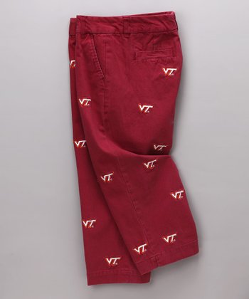 Maroon Virginia Tech Capri Pants - Women