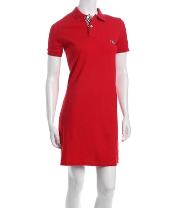 Red Georgia Polo Dress - Women