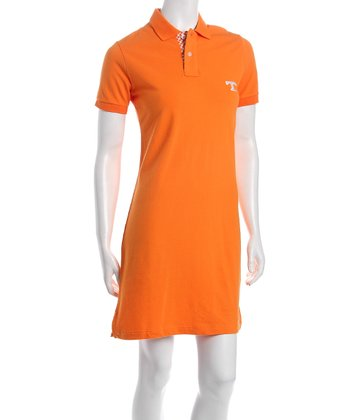 Orange Tennessee Polo Dress - Women