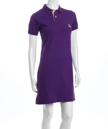 Purple Louisiana State Polo Dress - Women