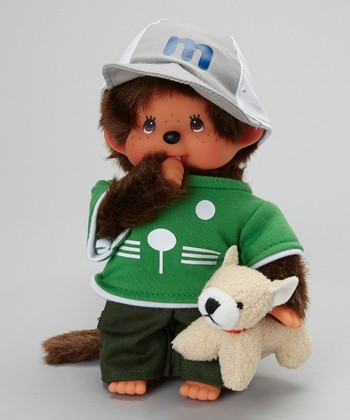 Dog Trainer Boy Monchhichi Plush Toy