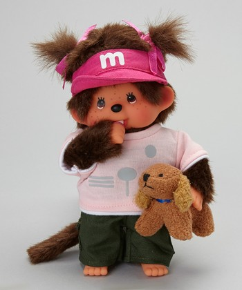 Dog Trainer Girl Monchhichi Plush Toy