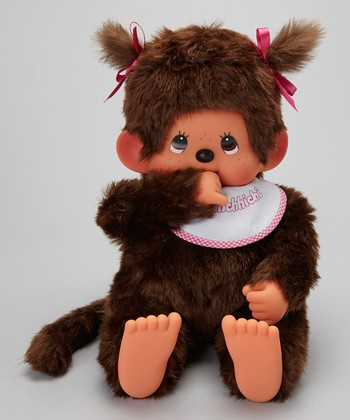 18'' Pigtail Girl Monchhichi Plush Toy
