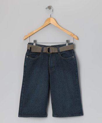 Vintage Blue Denim Shorts - Boys