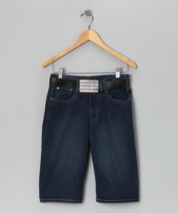 Indigo Denim Shorts - Boys