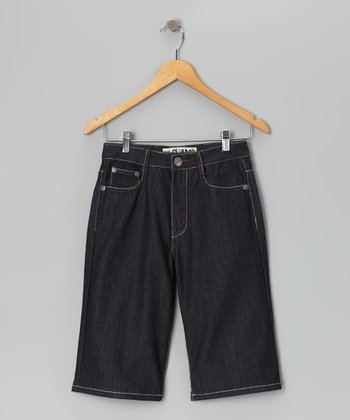 Blue Raw Denim Shorts - Boys