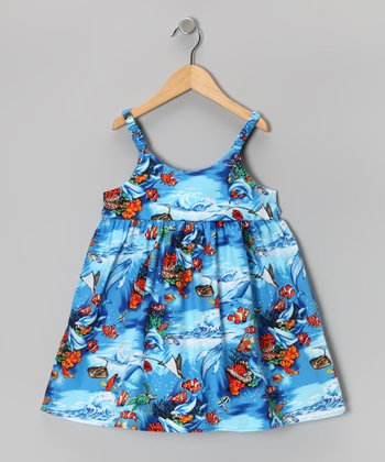 Blue Fish Dress - Infant & Toddler