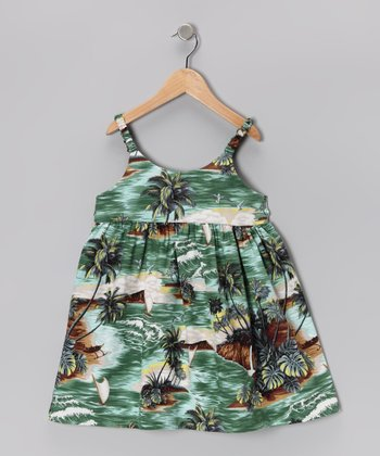 Green Jungle Safari Dress - Infant & Toddler