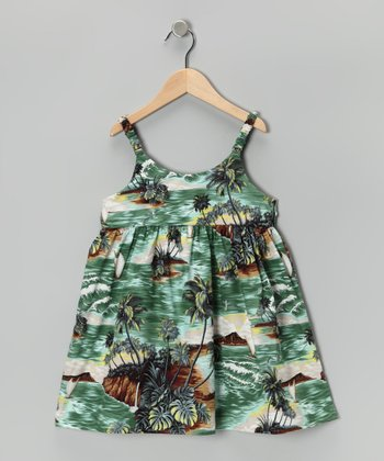 Olive Gray Waikiki Outrigger Dress - Infant & Toddler