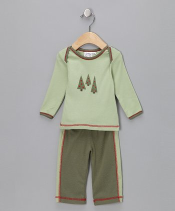 Green Tree Top & Pants - Infant