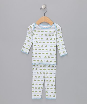 White Turtle Top & Pants - Infant