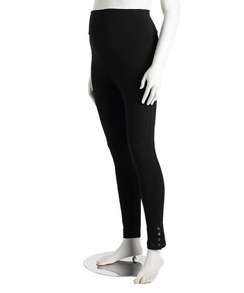 Black Snap Regular 3-Way Maternity Leggings