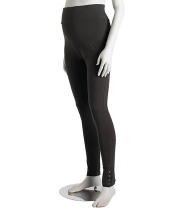 Charcoal Tall Snap Three-Way Maternity Leggings