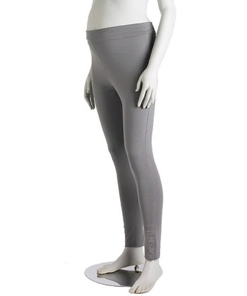 Gray Tall Snap Three-Way Maternity Leggings