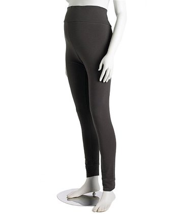 Charcoal Tall Cuff Three-Way Maternity Leggings