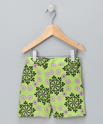 Green Shorts - Girls