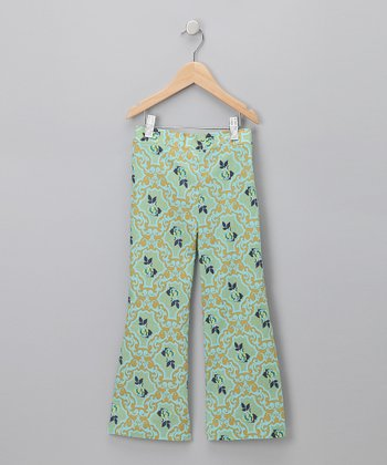 Blue & Green Pants - Girls