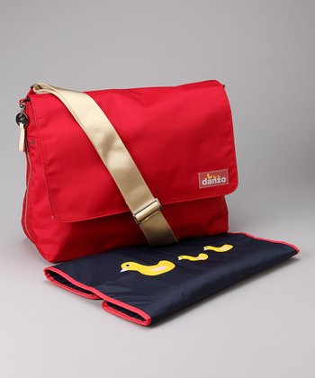 Danzo Fire Engine Red Messenger Diaper Bag