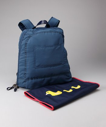 Cobalt Blue Backpack Diaper Bag