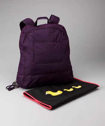Plum Backpack Diaper Bag