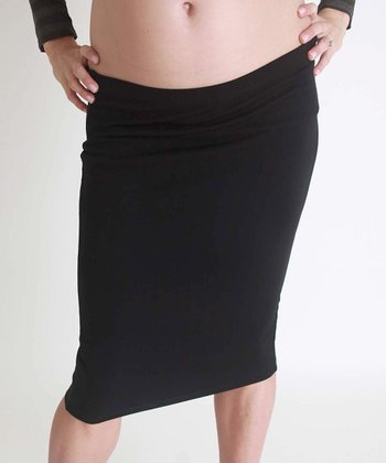 Nuka Black Maternity Pencil Skirt