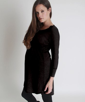 Nuka Black Maternity Sweater Dress