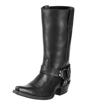 Black Hollywood Harness Boot - Women