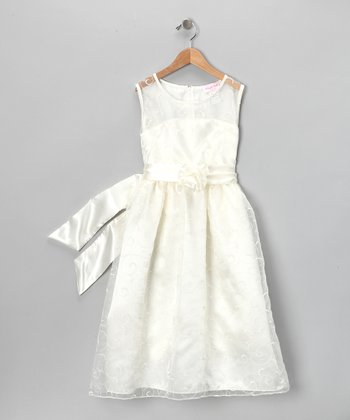 Ivory Vine Dress - Girls