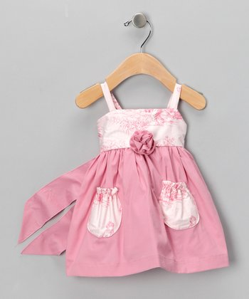 Pink Toile Dress - Infant