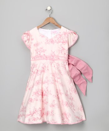 Pink Romantic Toile Dress - Infant, Toddler & Girls