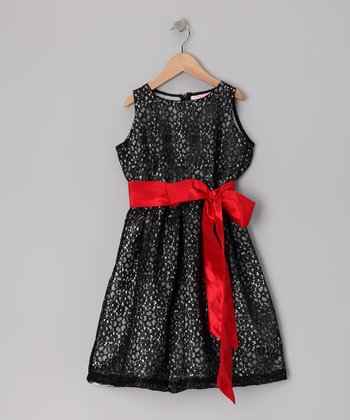 3 Angels Clothing Red Lace Dress - Girls