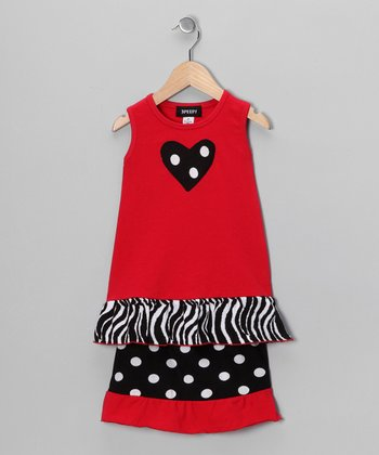 Red Polka Dot Tank & Skirt - Toddler & Girls