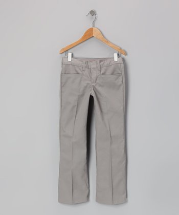 Silver Flare Pants - Girls