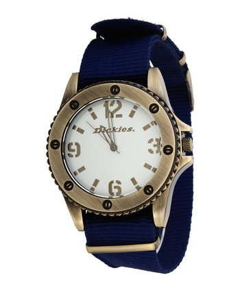 Navy & Gold Casual Fridays Watch