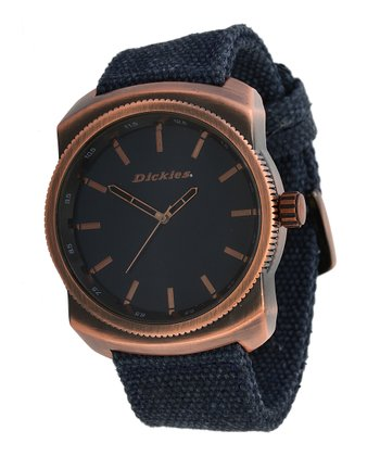Rose Gold & Navy Sleek Watch