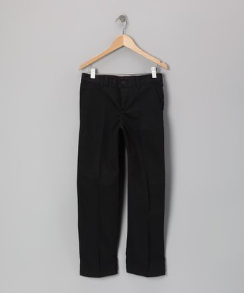 Black Stretch Pants - Girls