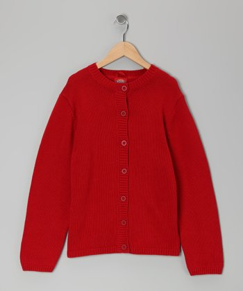 Red Cardigan - Girls