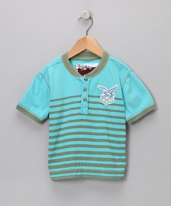 Offshore Breeze Stripe Henley - Toddler & Boys