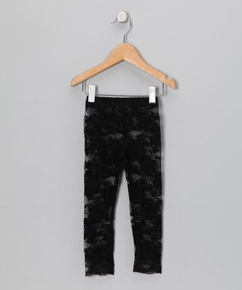 Black Lace Leggings - Toddler & Girls
