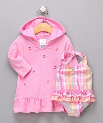 Pink Cupcake One-Piece & Cover-Up - Infant