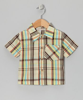 Brown Plaid Destin Dunes Ethan Button-Up - Infant, Toddler & Boys