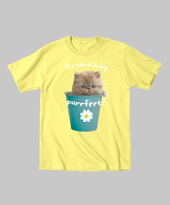 Banana 'It's Hard Being Purrfect!' Tee - Infant, Toddler & Girls