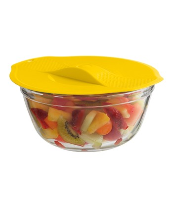 Red, Green & Yellow Stackable Silicone Lid Set