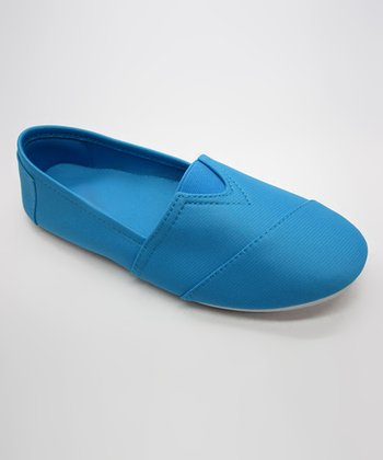 Neon Blue Slip-On Shoe