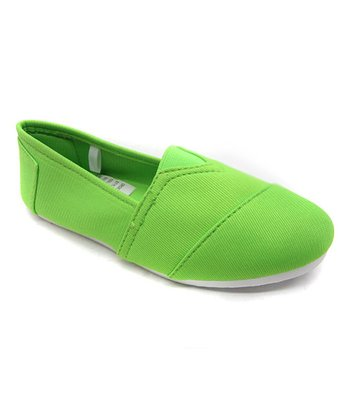 Neon Green Slip-On Shoe