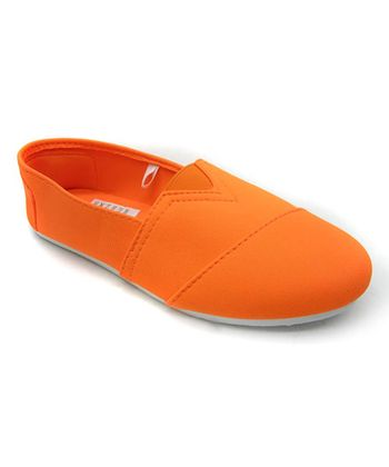 Neon Orange Slip-On Shoe