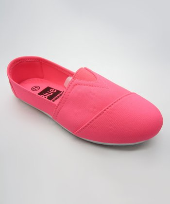 Neon Pink Slip-On Shoe